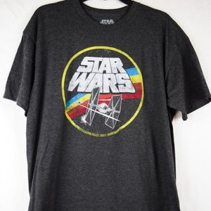 Star Wars Tie Fighter Gray T-Shirt Size XL